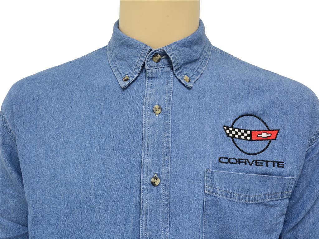 Long Sleeve Denim Shirt With C1 C2 C3 C4 C5 Or C6