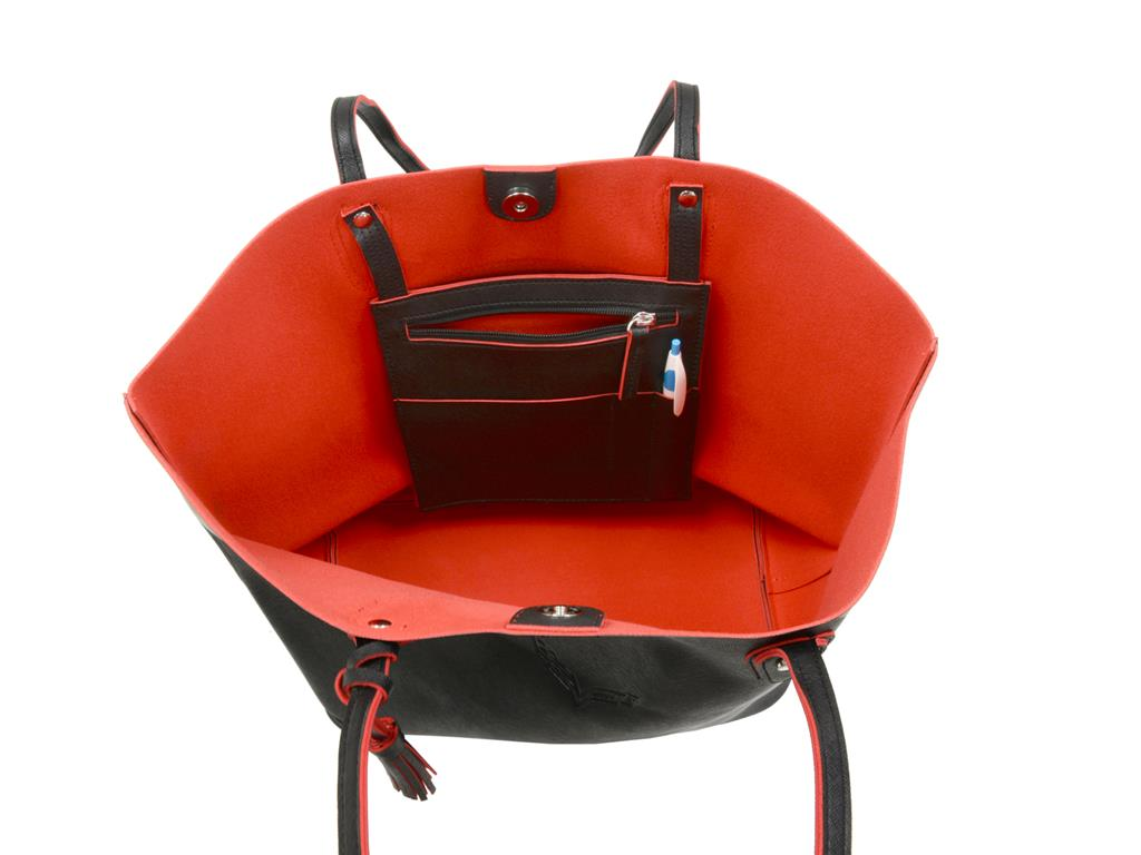 f7dc98c4b047 Corvette Black And Red Tote Bag