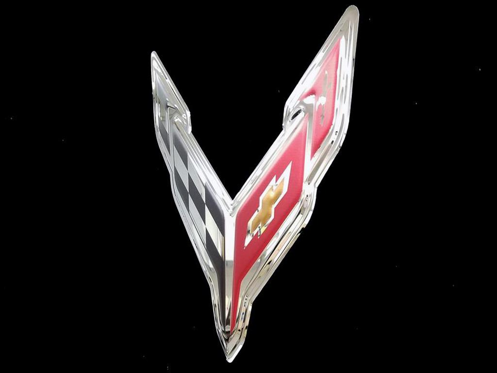 Elite Series Chrome Stainless SteelSign Chrome Domz Corvette C1 Badge X-Large