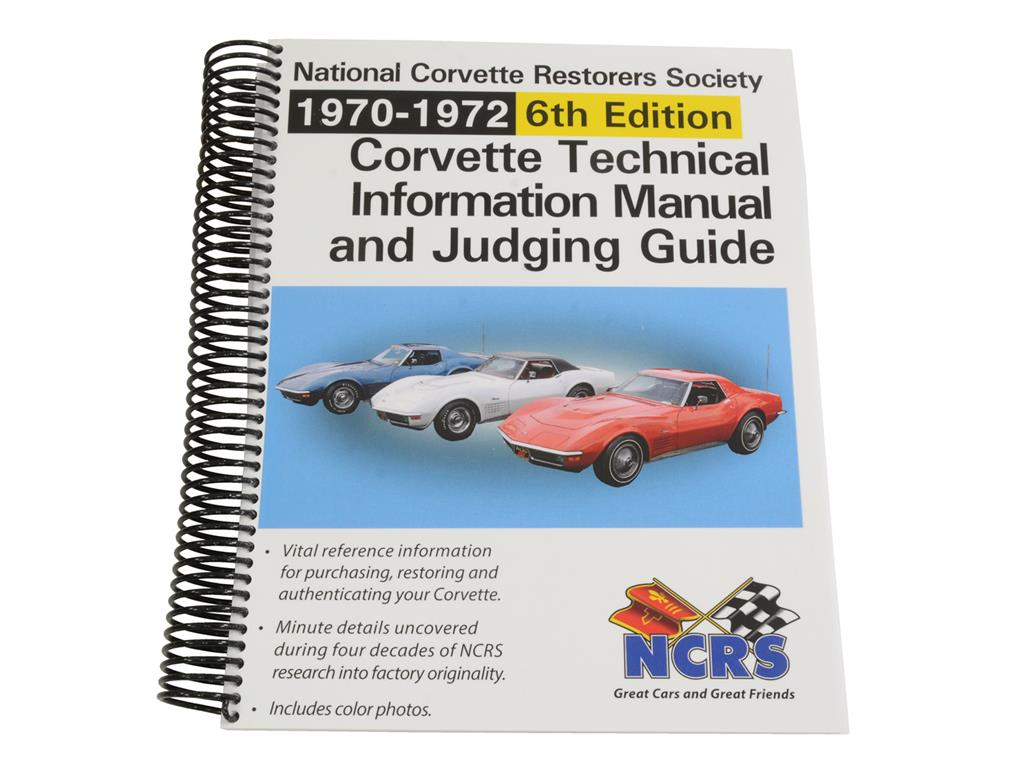 70 72 Ncrs Judging Manual 6th Edition Nd Corvette Central