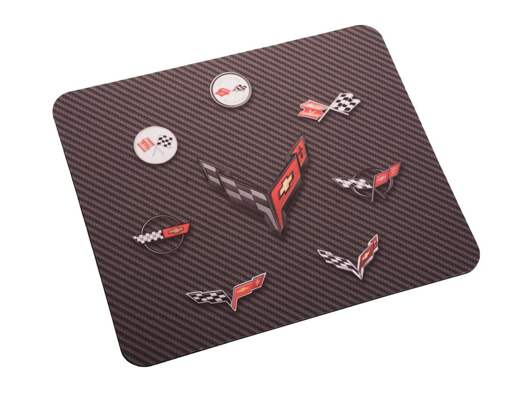 Mouse Pad 8 Corvette Generation Emblems