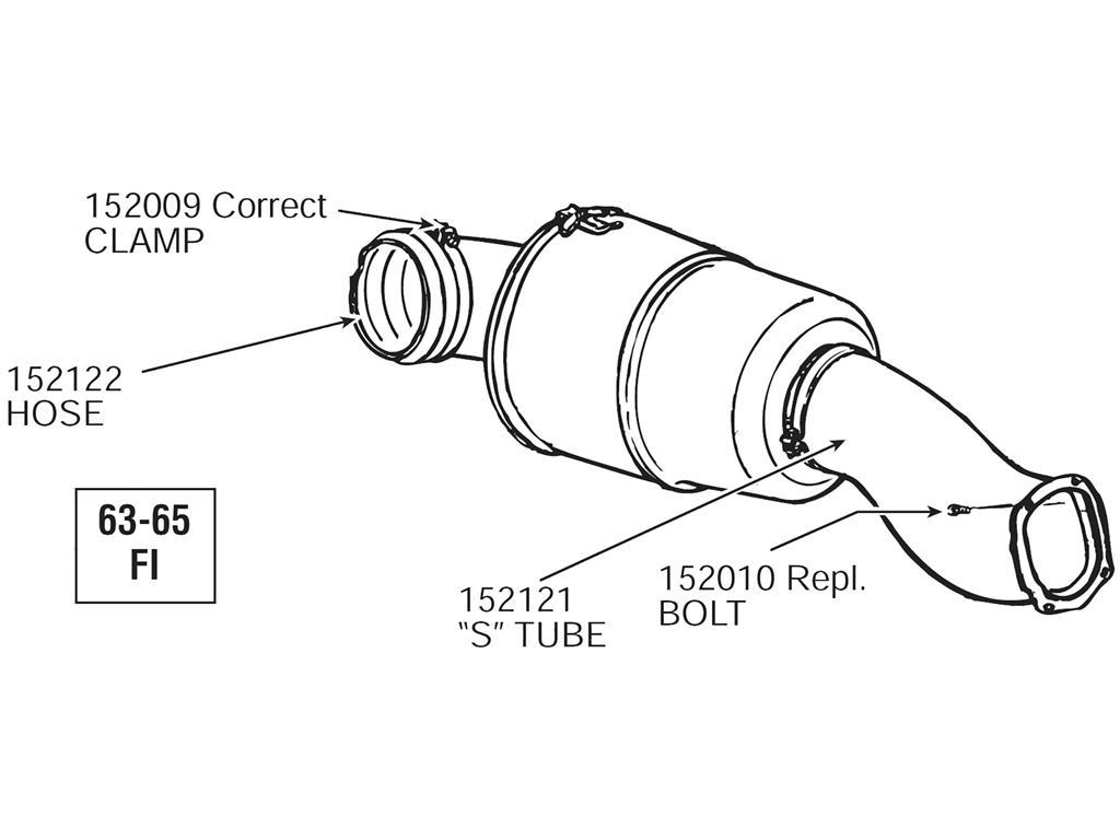 63-65 air cleaner tube mount bolt