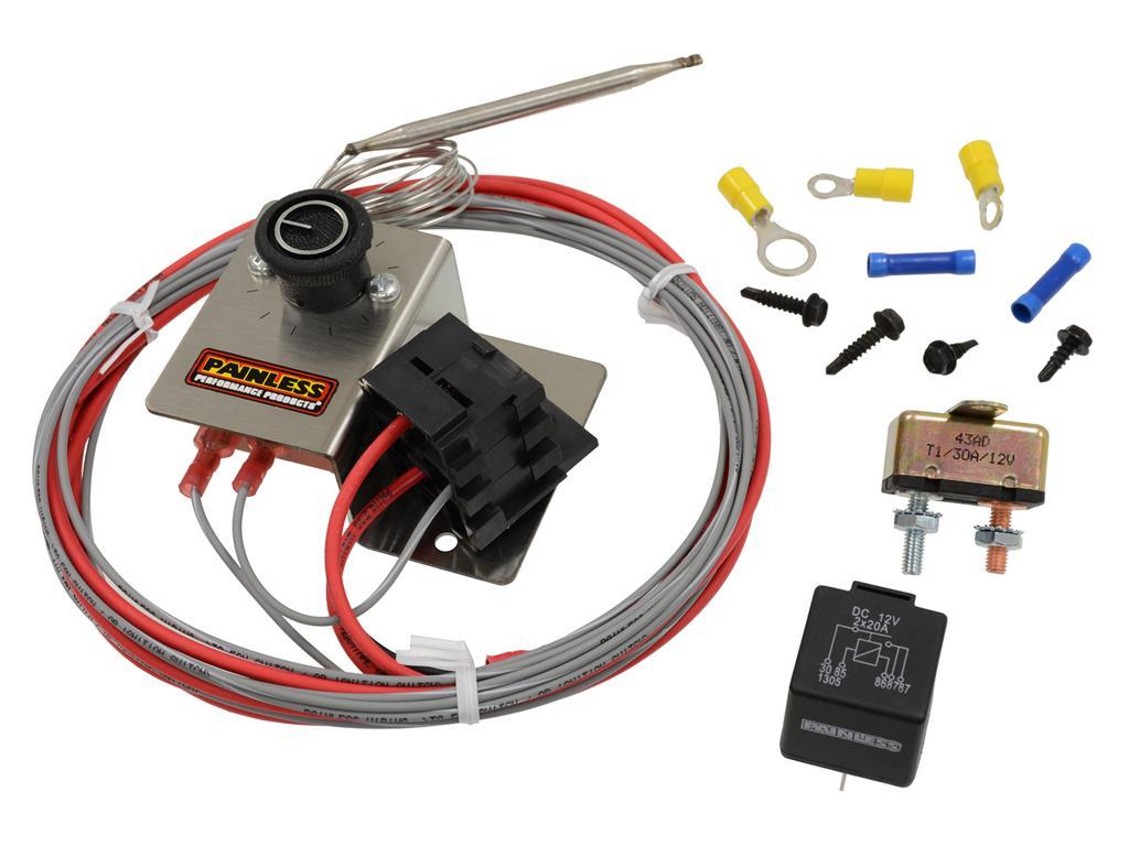 Adjustable Electric Fan Thermostat Control Corvette Central
