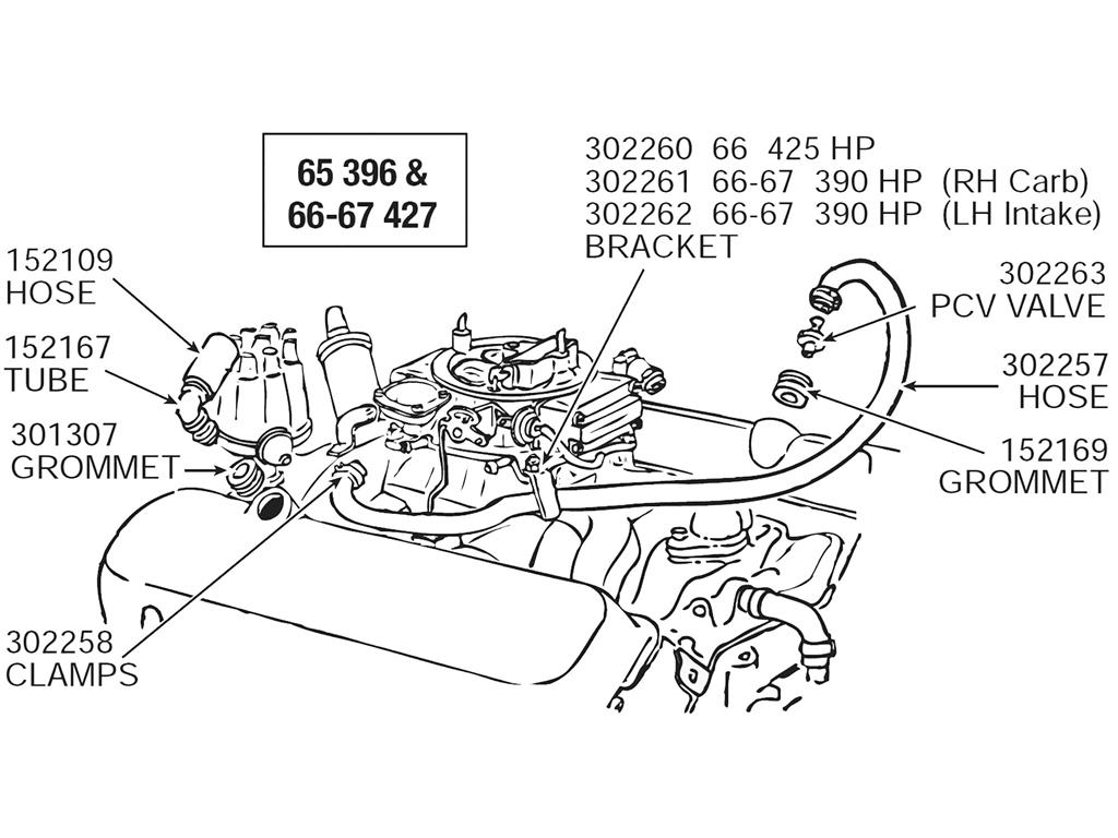 53 62 Heater Hose Firewall Grommet Corvette Central 3 1 Engine Diagram 301307 C2 05
