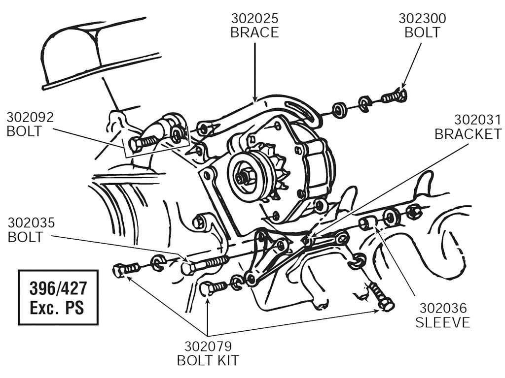 65-74 alternator mount bolt set   454 except power