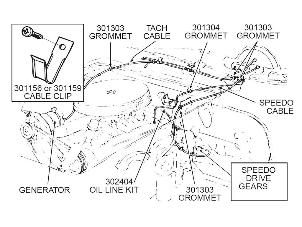 56-67 oil line kit