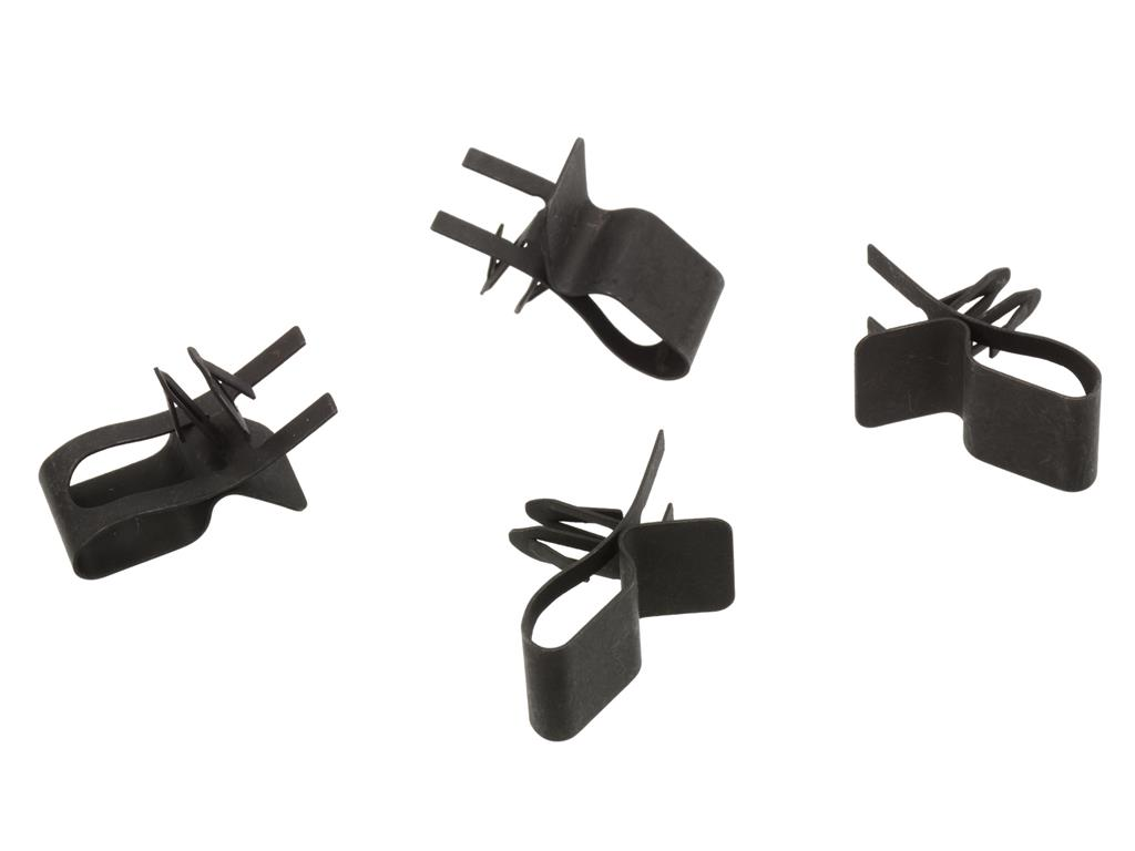 63-67 Headlight Wire Harness Clip Set - To Header Bar - 4 Pieces (ND on plastic luggage tags, plastic strap click, plastic loop locks,
