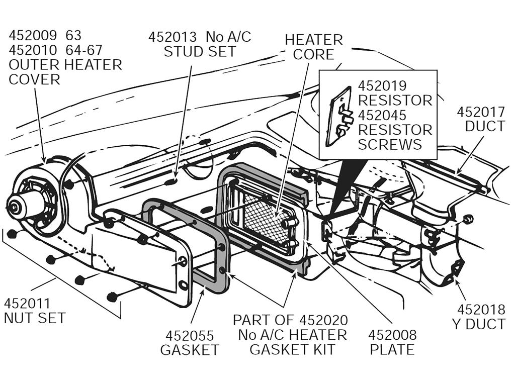 6367 Heater Box Gasket Set No Air Inner And Outer With Rivets 9. 6367 Heater Box Gasket Set No Air Inner And Outer With Rivets 9 Pieces. Corvette. 67 Corvette Air Conditioning Diagram At Scoala.co
