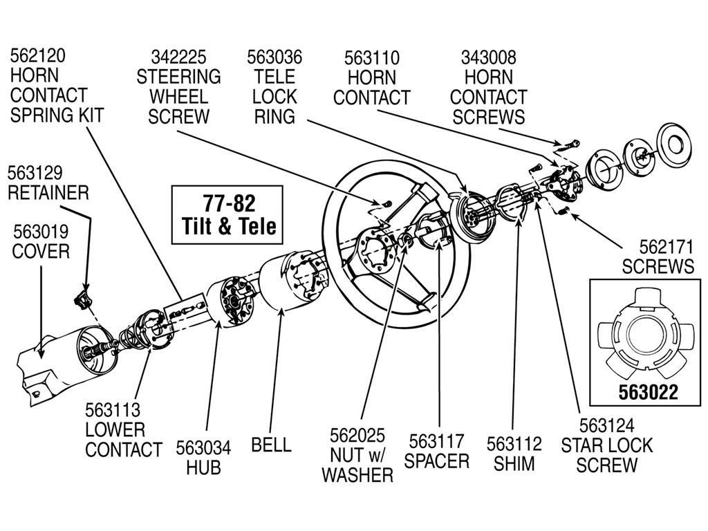 6982 Horn Contact With Spring Tilt And Telescopic Steering Column. Corvette. 69 Corvette Steering Column Schematic At Scoala.co