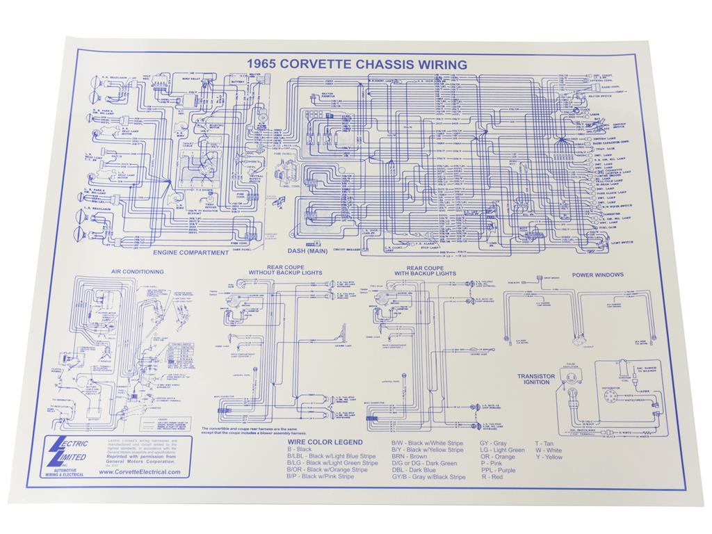 65 Wire Diagram 17 X 22 Corvette Central Power Window Wiring