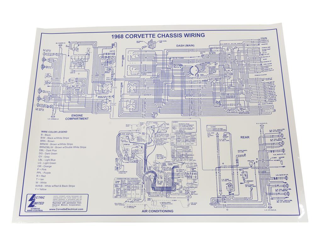 68 Wire Diagram 17 X 22 Corvette Central 1968 Wiring