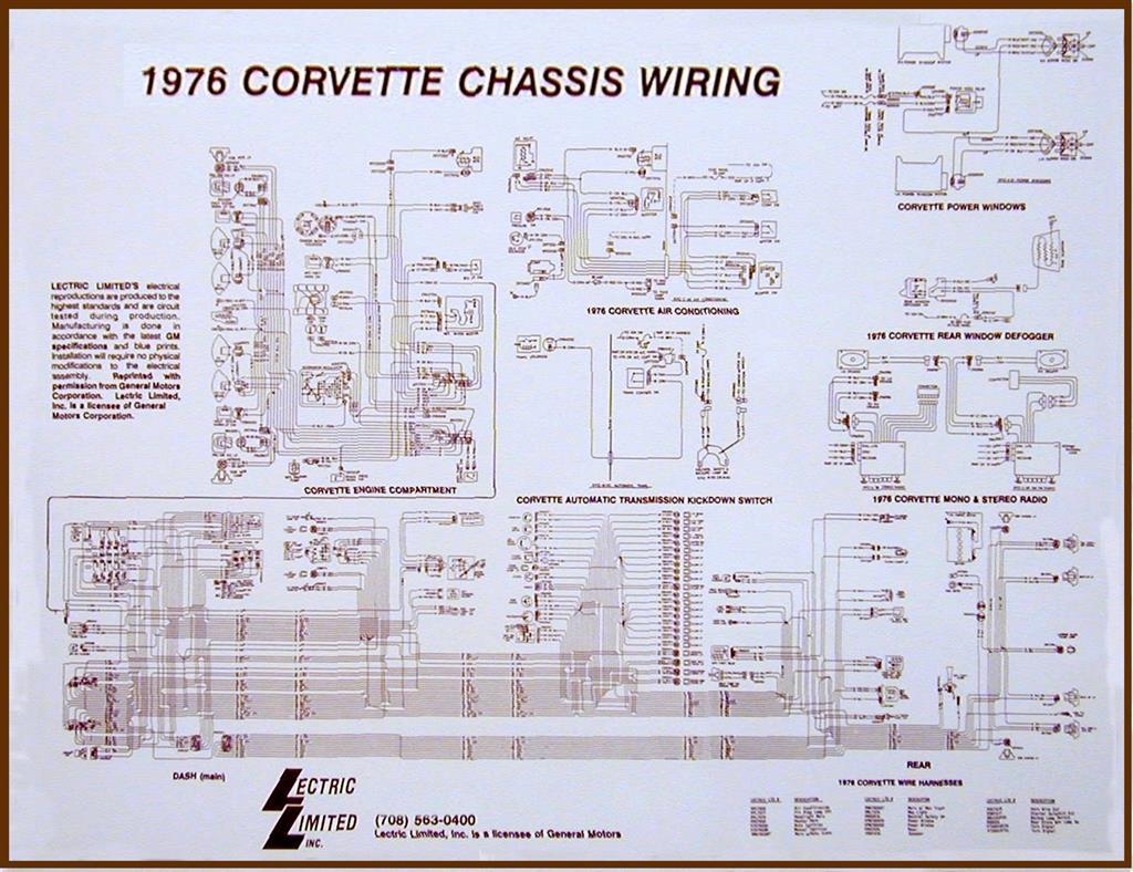 75 Wire Diagram 17 X 22 Corvette Central 1976 Dash Wiring Schematic