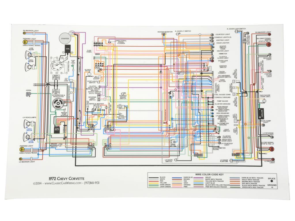 68 81 Color Wire Diagram 11 X 17 Corvette Central 1956 Wiring 663333 72main