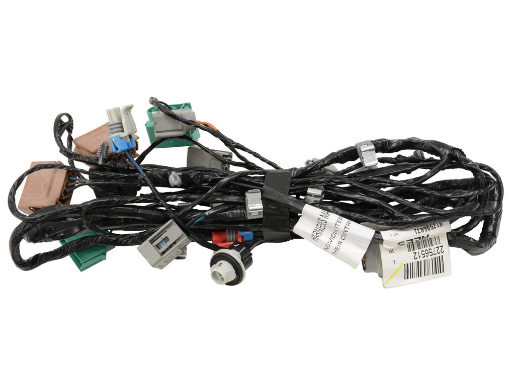 05 13 Rear Wire Harness European Export Corvette Central Main 666002main