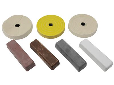 Wondrous Metal And Plastic Buffing And Polishing Kit For Use With 6 Bench Grinder Bralicious Painted Fabric Chair Ideas Braliciousco