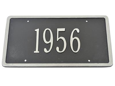 custom license plate with silver numbers choose car year. Black Bedroom Furniture Sets. Home Design Ideas