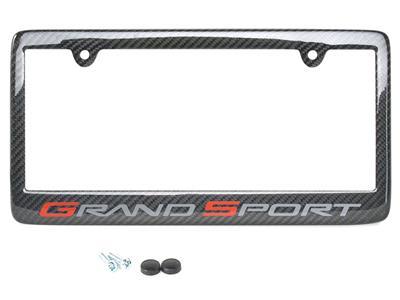 10-13 Carbon Fiber Rear License Plate Frame With Grand Sport ...