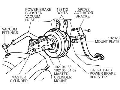 64 67 Power Brake Booster