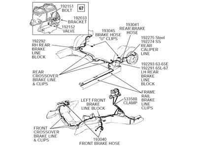 63 65 Brake Line Block