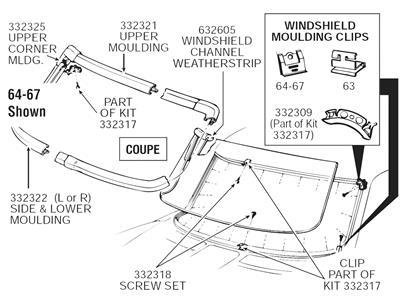 Windshield Moulding Clip