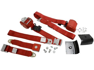 65-66 Seat Belt - 3 Point Retractable With Shoulder Harness - Coupe - 1966  Early