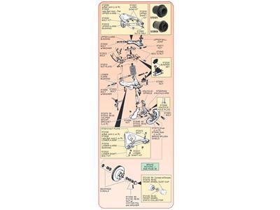 3928650 68-82 CORVETTE RIGHT FRONT BRAKE CALIPER MOUNT BRACKET