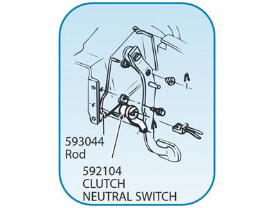 69 81 Neutral Safety Switch With Manual Transmission On Clutch Pedal
