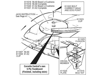 C4 Corvette Frame Diagram