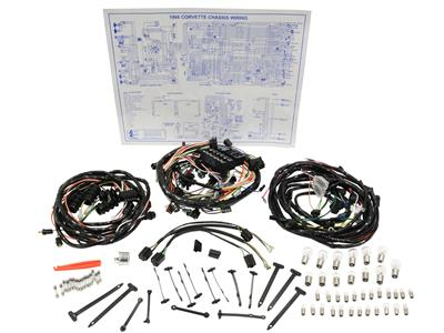 66 Wire Harness Kit - All - Deluxe | Corvette Central Under The Hood Wiring Harness on under hood battery, under hood painting, under hood building, under hood components, under hood mirrors, under hood paint, under hood dimensions, under hood gauges, under hood design, under hood inverter, under hood parts, under hood blue, under hood shocks,