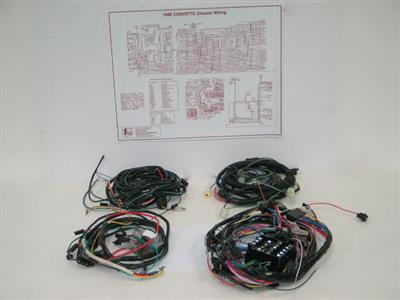 78 wire harness kit 1st design without rear radio speakers 85 Corvette Wiring Harness at 78 Corvette Wiring Harness